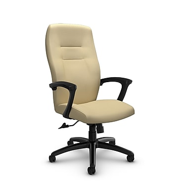Global® (5090-4 IM70) Synopsis High Back Tilter Office Chair, Imprint Almond Fabric, Tan