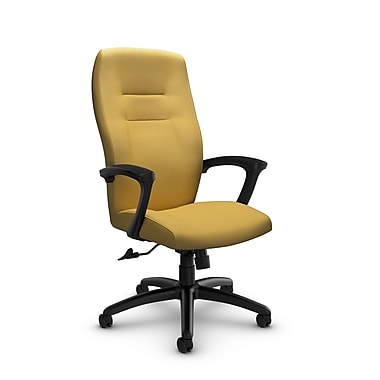 Global® (5090-4 IM73) Synopsis High Back Tilter Office Chair, Imprint Currie Fabric, Yellow