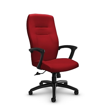 GlobalMD – Chaise de bureau à dossier haut et inclinable Synopsis (5090-4 IM74) tissu assorti Candy Apple, rouge