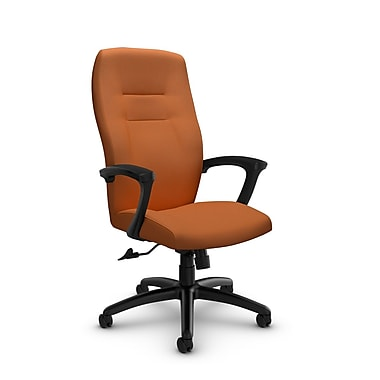 Global® (5090-4 IM81) Synopsis High Back Tilter Office Chair, Imprint Paprika Fabric, Orange