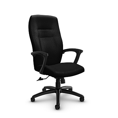 Global® (5090-4 MT32) Synopsis High Back Tilter Office Chair, Match Black Fabric, Black