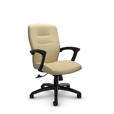 Global® (5091-4 IM70) Synopsis Mid Back Tilter Office Chair, Imprint Almond Fabric, Tan