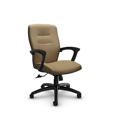 Global® (5091-4 IM71) Synopsis Mid Back Tilter Office Chair, Imprint Cork Fabric, Tan