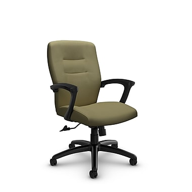 Global® (5091-4 IM79) Synopsis Mid Back Tilter Office Chair, Imprint Oregano Fabric, Green