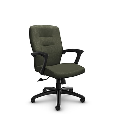 Global® (5091-4 MT22) Synopsis Mid Back Tilter Office Chair, Match Moss Fabric, Green