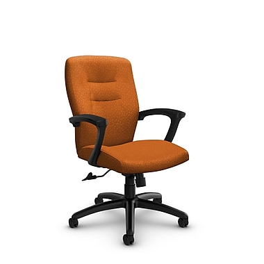 GlobalMD – chaise de bureau à dossier mi-dos et inclinable Synopsis (5091-4 MT23) tissu assorti, orange