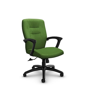 Global® (5091-4 MT27) Synopsis Mid Back Tilter Office Chair, Match Green Fabric, Green