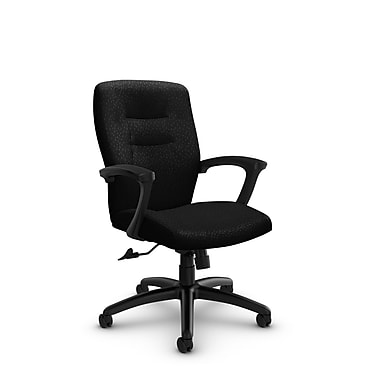 Global® (5091-4 MT32) Synopsis Mid Back Tilter Office Chair, Match Black Fabric, Black
