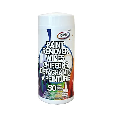 Logix (45482) Paint Remover Wipes, 3 Packs of 30 Wipes