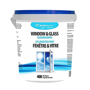 Modern Homes (99354) Window Cleaning Wipes, 400 Wipes/Bucket