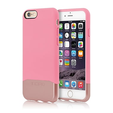 Incipio Edge Chrome Hard Shell Slider Case with Chrome Finish for iPhone 6, Pink/Rose Gold, (IPH1188PNKRGLD)