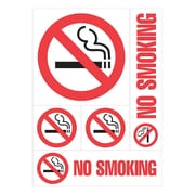 "Cosco® No Smoking Sign, 12"" x 8"", Plastic, Red (98267)"