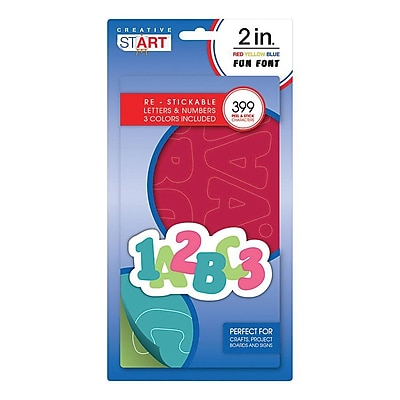 Creative Start Self-Adhesive Characters Letter and Number, 2