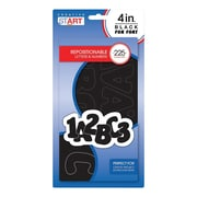 """Creative Start Self-Adhesive Characters Letter and Number, 4"""", Black (98260)"""