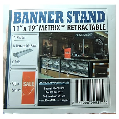 Metrix Retractable Banner Stand With Sale Sign, 11