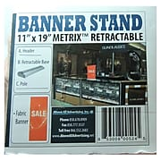 """Metrix Retractable Banner Stand With Sale Sign, 11"""" x 19"""", Fabric (A1ST-11-0179-01)"""