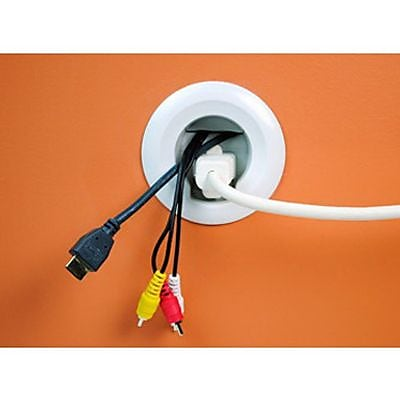 Wiremold® In-Wall Cable Power Kit, White (WMC701)