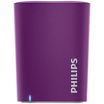 Philips BT100/37 2 W Wireless Portable Speaker, Purple