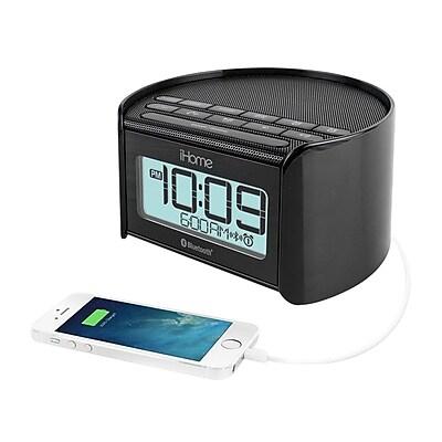 iHome™ iBT230 Bluetooth Dual Alarm Clock Radio with Speakerphone, Black