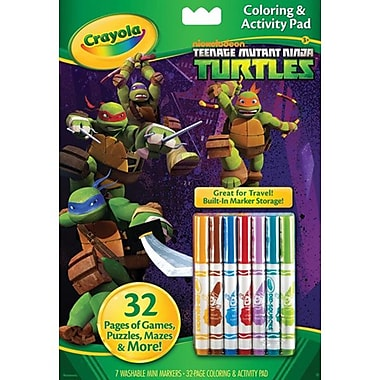 Crayola® Teenage Mutant Ninja Turtl Coloring and Activity Pad with Markers, 3+ Years (04-0208)