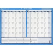 "AT-A-GLANCE® 17""H x 24"" W 30/60-Day Undated Horizontal Erasable Wall Calendar, Blue (PM263B)"