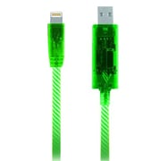 Pilot Lightning Power Series Electroluminescent Charge/Sync Cable 3' for iPhone 5, Green (EL-1402G)