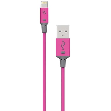 Scosche StrikeLine II Charger Cable 3' for USB devices, Pink (I2PKA)