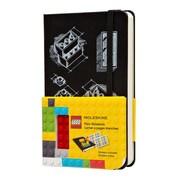 "Hachette Books Ireland Moleskine Lego Notebook, 3.54331"" x 5.51181"", Black (326198)"