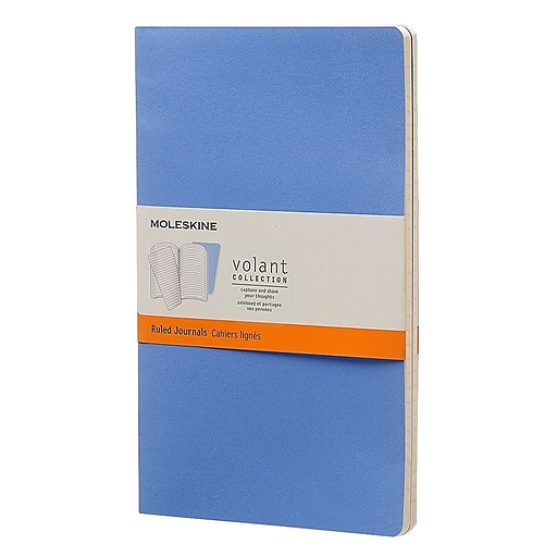 "Hachette Books Ireland Moleskine Large Volant Journal, 5"" x 8 1/4"", Blue (890488)"