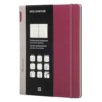 Moleskine Pro Collection Professional Notebook, Extra Large, Plum Purple, Hard Cover, 7-1/2