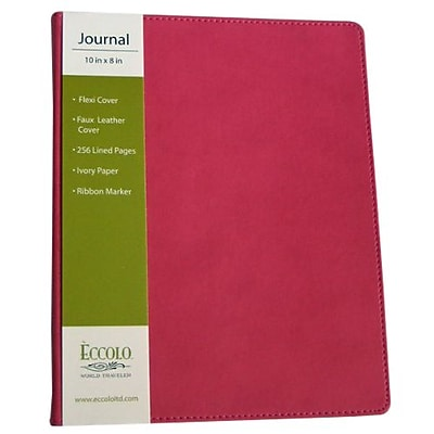 "Eccolo Ltd Traveller Journal, 8"" x 10"", Pink (ST502P-V)"