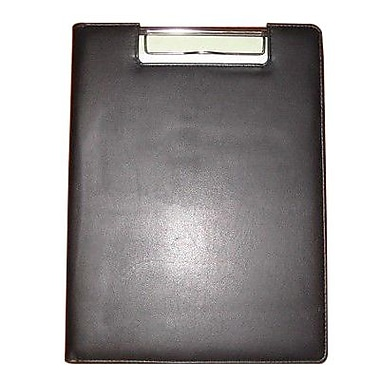 Buxton® Black Faux Leather Clip Flip Padfolio (ST10-757)