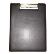 Buxton® Black Faux Leather Clip Flip Padfolio (ST10-757)