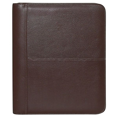Buxton® Genuine Brown Leather Zip-Around Portfolio (ST19825.AC)