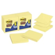 """Post-it® Super Sticky Pop-Up Notes, 3"""" x 3"""", Canary Yellow, 10 Pads/Pack (R330-10SSCY)"""