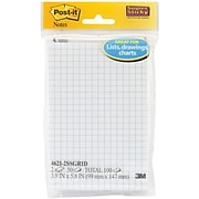 """Post-it® Super Sticky Notes, 4"""" x 6"""", White, 2 Pads/Pack (4621-2SSGRID)"""