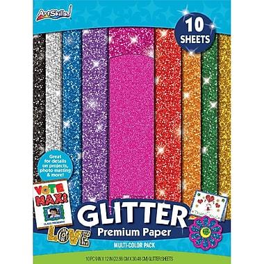 ArtSkills® Glitter Premium Paper, Assorted, 9