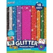 "ArtSkills® Glitter Premium Paper, Assorted, 9"" x 12"", 10/Pack (PA-2575)"