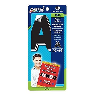 ArtSkills® Jumbo Quick Letters, Black/White, 4