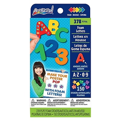 ArtSkills® Quick Stick Foam Letters and Numbers, Assorted, 1