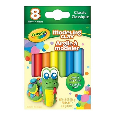Crayola® Modeling Clay, Classic Assorted, 8/Pack (57-0312)
