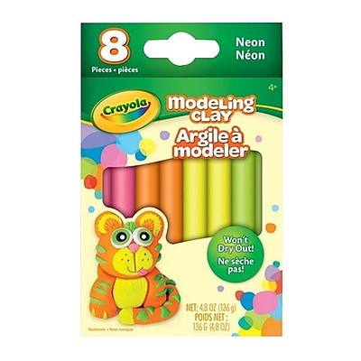 Crayola® Modeling Clay, Neon Assorted, 8/Pack (57-0313)