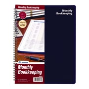 """TOPS™ Bookeeping, Monthly, 8 1/2"""" x 11"""", Blue (AFR71)"""