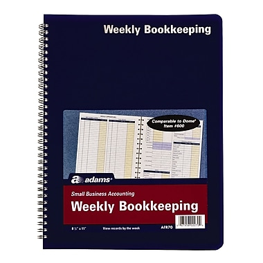 TOPS™ Bookeeping, Weekly, 8 1/2