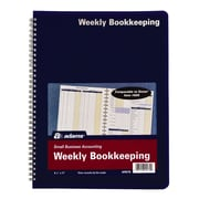 "TOPS™ Bookeeping, Weekly, 8 1/2"" x 11"", Blue (AFR70)"