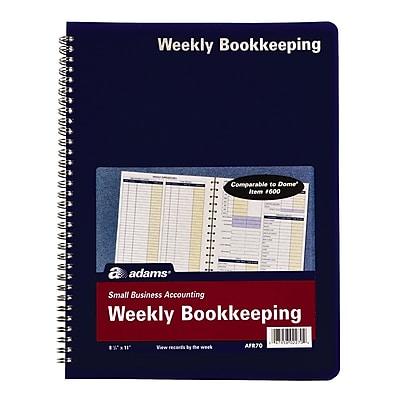 TOPS™ Bookeeping, Weekly, 8 1/2