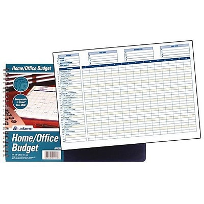 Adams® Home and Office Budget Record Journal, Ruled, Blue (AFR31)