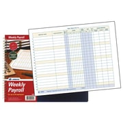 "TOPS™ Payroll Record Book, Weekly, 8 1/2"" x 11"", Blue (AFR50)"