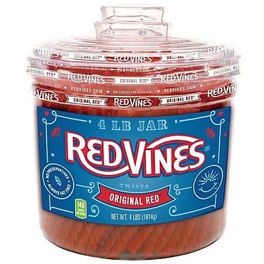 American Licorice® Red Vines Original Red Candy Jar, 64 oz. (328625)