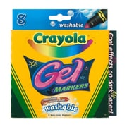 Crayola® Broad Line Gel Washable Marker, Assorted, 8/Pack (58-8163)